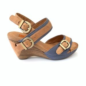 Miz Mooz Denim and Tan Platform Sandals-SZ 7.5🍃
